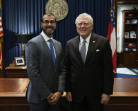 Dr. Snehal Dalal and Governor Nathan Deal