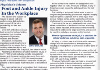 Foot and Ankle Injury in the Workplace