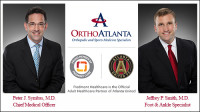 OrthoAtlanta orthopedic surgeons, Peter J. Symbas, M.D. and Jeffrey P. Smith, M.D.