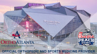 Official Orthopedic and Sports Medicine Provider of the Chick-Fil-A Peach Bowl