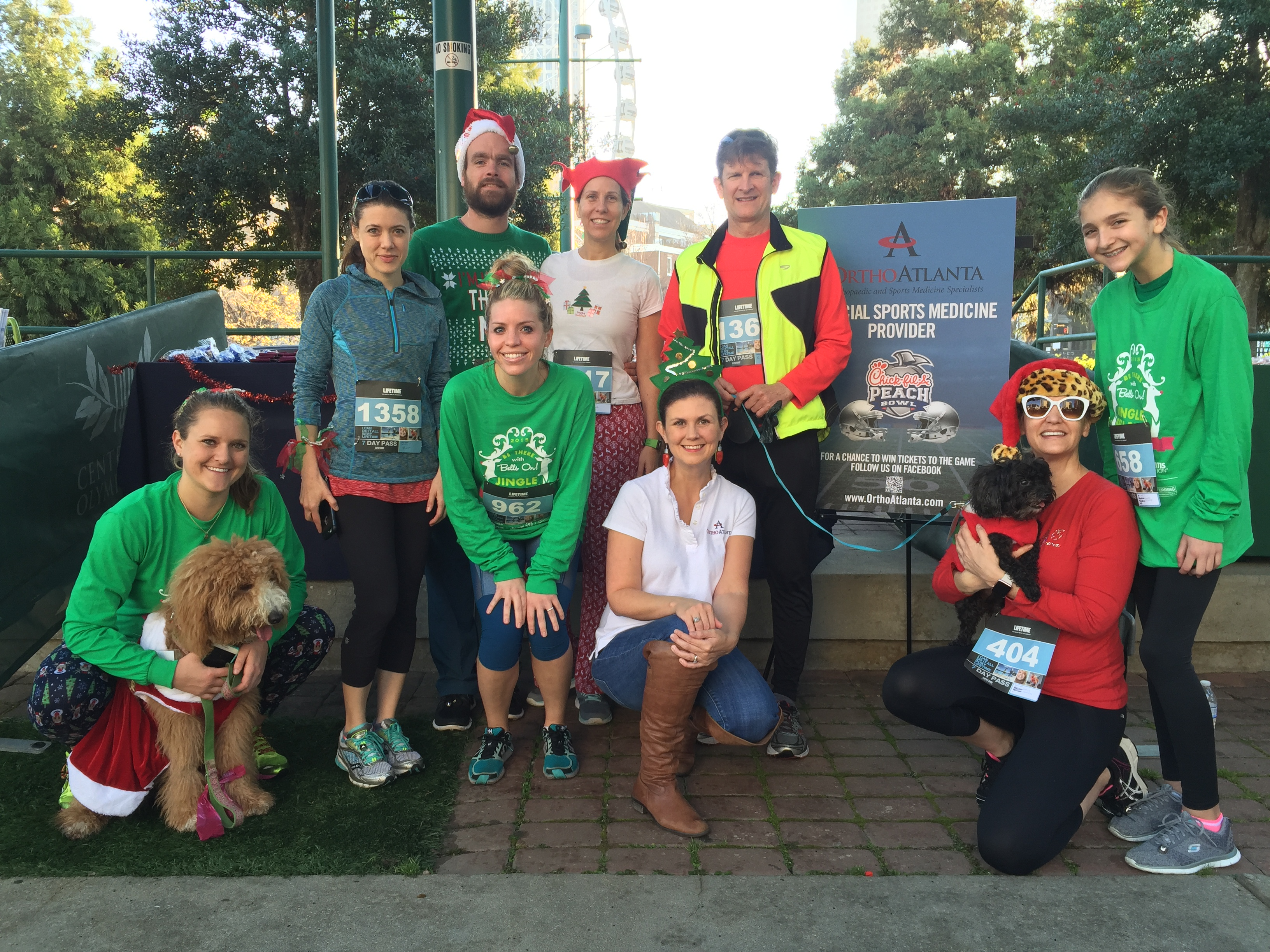 2015 OrthoAtlanta Jingle Bell Run for Arthritis participants