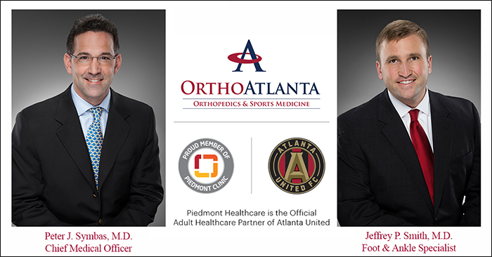 OrthoAtlanta physicians provide medical care to Atlanta United FC and ATL UTD soccer teams