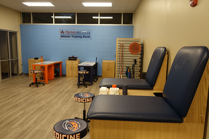 OrthoAtlanta Athletic Training Room at Clayton State Athletics