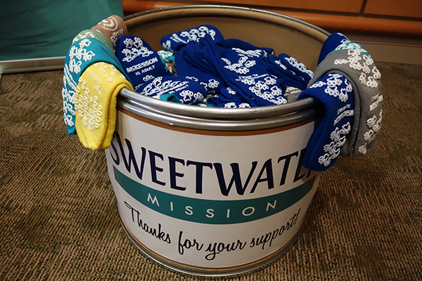 socks donated to Sweetwater Mission