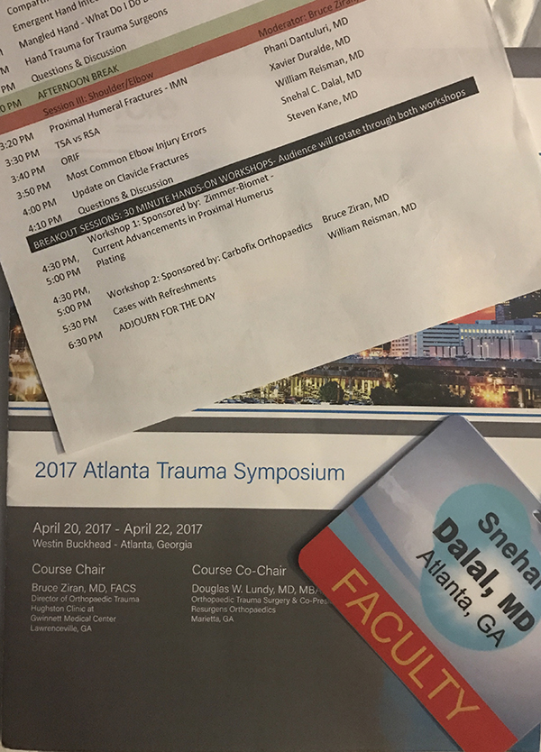 Snehal Dalal, MD, 2017 Atlanta Trauma Symposium