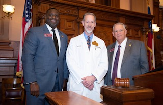 Dr. Todd Schmidt, OrthoAtlanta at the Georgia state capitol