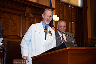 OrthoAtlanta orthopedic surgeon, Todd A. Schmidt, M.D., Doctor of the Day at the Georgia state capitol