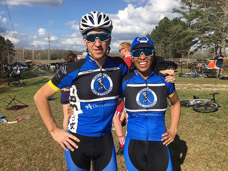 Dr. Sharrona Williams and cycling coach Scott Moore