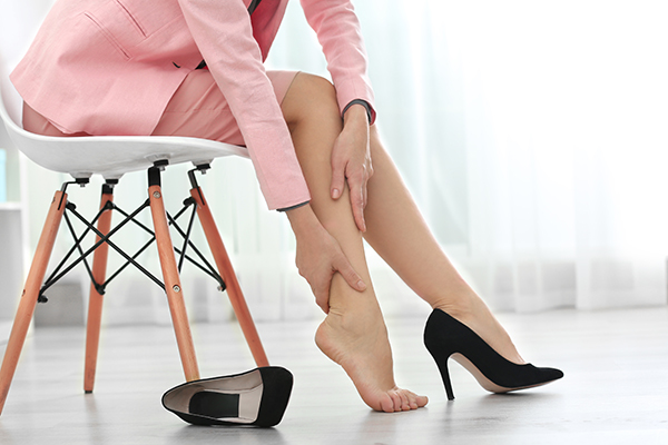 Foot Pain can result from wearing high heels